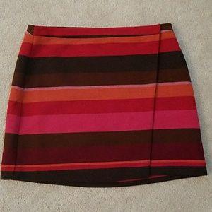 Loft  beautiful striped skirt size 16